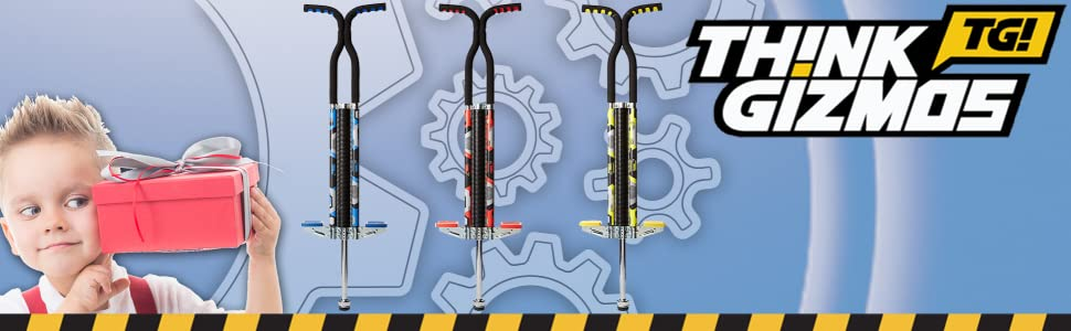 /& Light Adults Pogo Stick for Boys /& Girls - Quality Solid Construction Think Gizmos Pogo Stick for Riders 80lbs to 160lbs