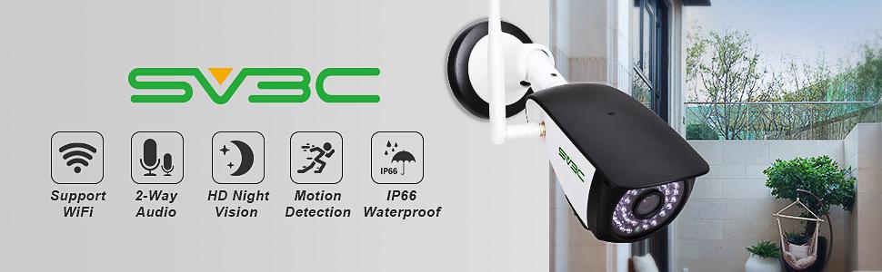 SV3C 3MP Outdoor WiFi Camera