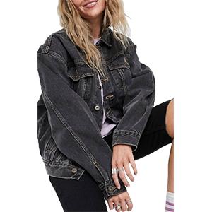 oversize vintage denim jacket