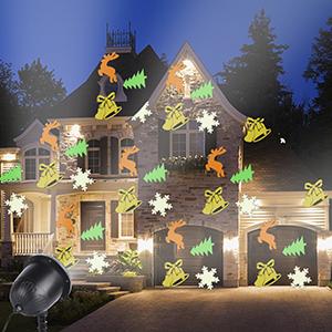 Luz de Proyector Navidad, ALED LIGHT Impermeable Copos de Nieve ...