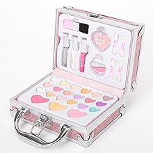 Claire's makeup sets collection, unique designs, colorful, cute details, play makeup for girls