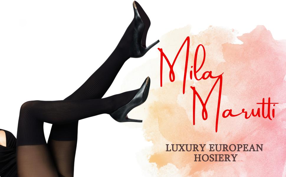 Mila Marutti Faux Garter Mock Thigh High Tights