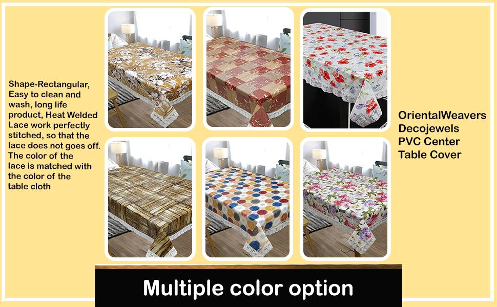 OrientalWeavers Decojewels PVC Center Table Cover