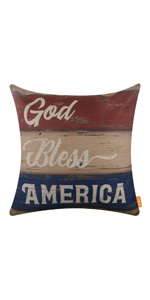 Linkwell Patriotic 18x18 Pillow Cover