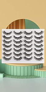 14 pairs cat eye lashes