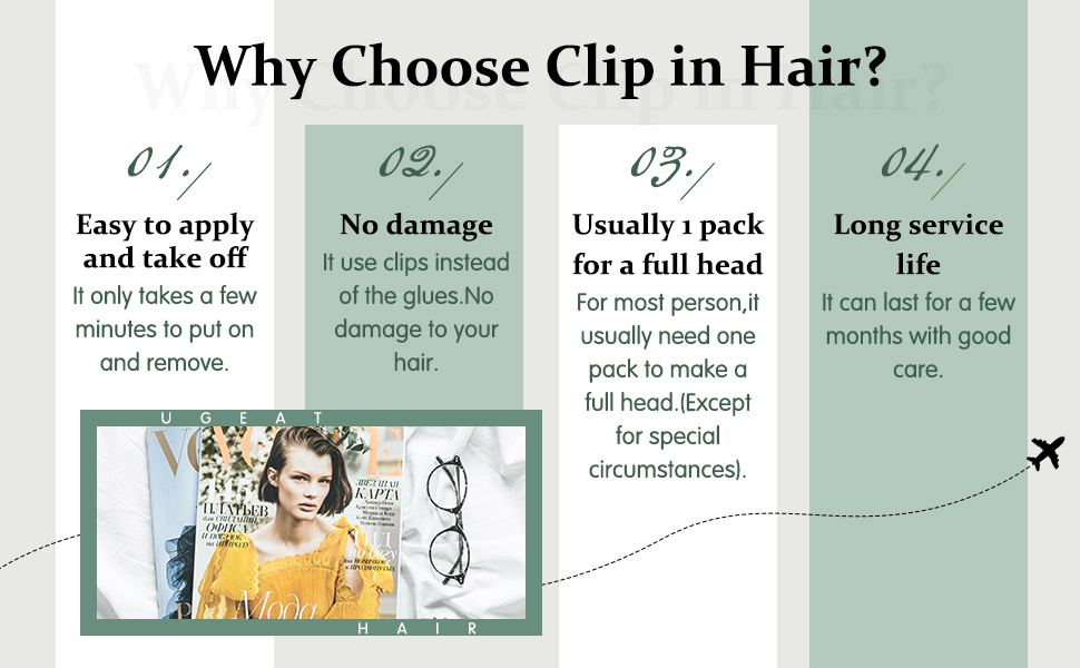 Human Hair Extensions Clip on