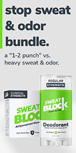 SweatBlock Clinical Strength Antiperspirant + Deodorant for Armpit Hyperhidrosis Sweat & Odor