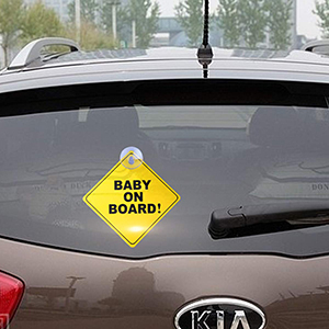 baby car sticker signs