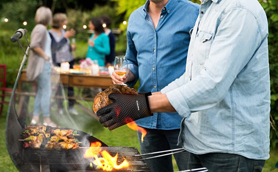 bbq barbecue barbeque baking smoker pit fryer oil heat extreme mits men gadgets cool kitchen