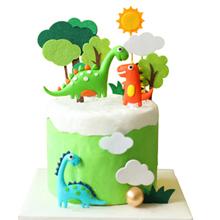 Jurassic Park Themed Party Decor Dinosaur Cake Topper Stencil Set Children/'s Birthday Party Decorations Dinosaur Cake Toppers