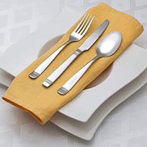 flatware heavy - 20 piece flatware - silverware 20 heavy silverware - usa made flatware - silverware