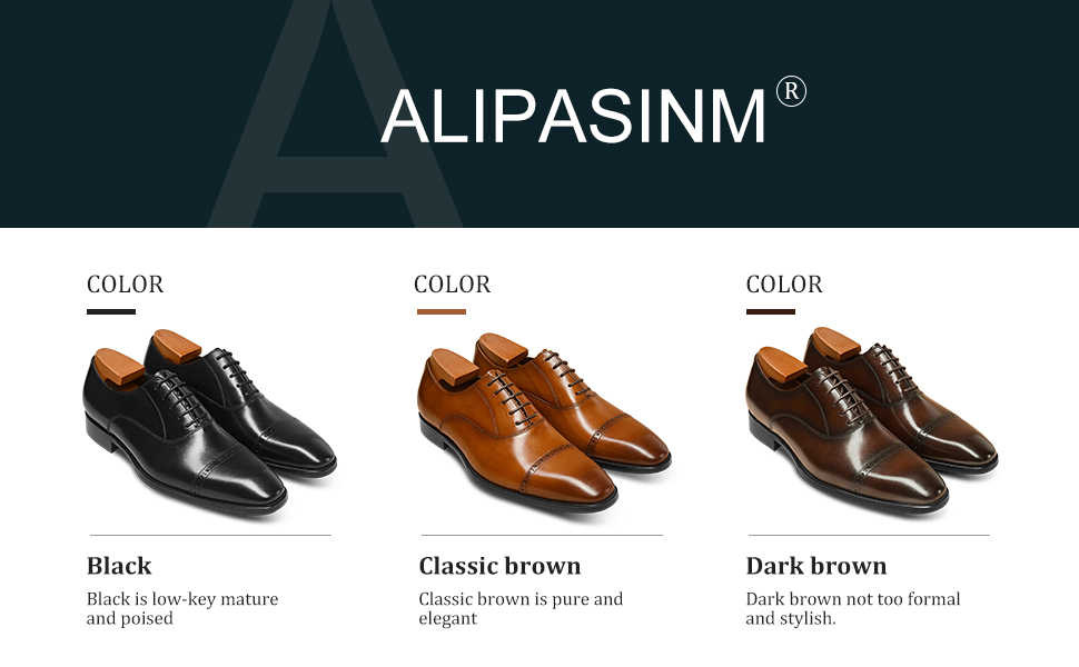 men dress shoes in black /brown/ coffee