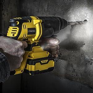 TROTEC Akku-Bohrhammer PRDS 20‑20V 2 Joule mei/ßeln bohren Beton Mauerwerk /…