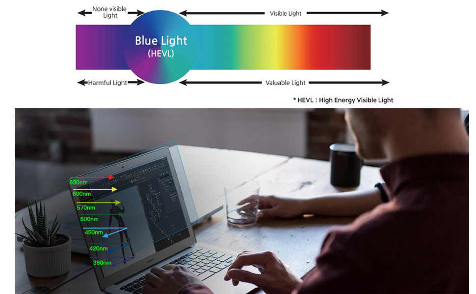 HC220W1B Widescreen 16:10 High Clarity 3M Computer Privacy Screen Filter for 22 inch Monitors
