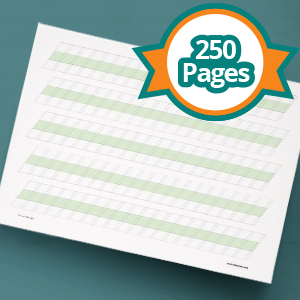 The 250-page slanted blocks packs are helpful for: