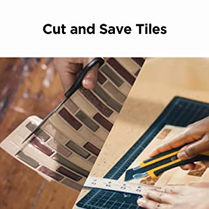 easy to cut and tile sticker
