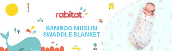 Rabitat Bamboo Muslin Swaddle Blanket