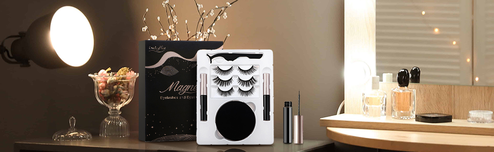 upgraded waterproof magnetic eyeliner and lashes kit