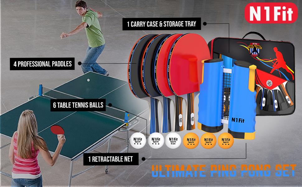 ping pong set of 4