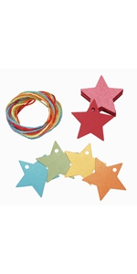 star colorful paper gift tags wrap craft blank presents labels printable thank you thanksgiving