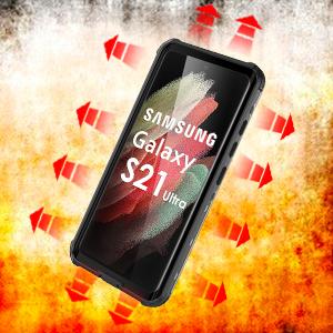 Samsung Galaxy S21 Ultra Waterproof Phone Case Built-in Screen Protector