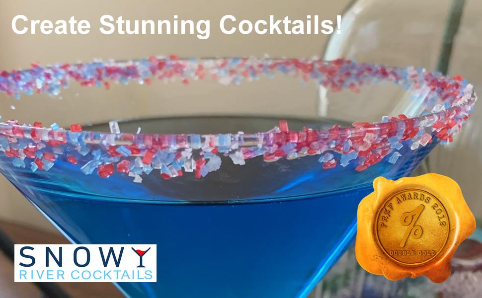 Cocktail sugar, cocktail glitter, cocktail decorating, cocktail salt, cocktail garnish,