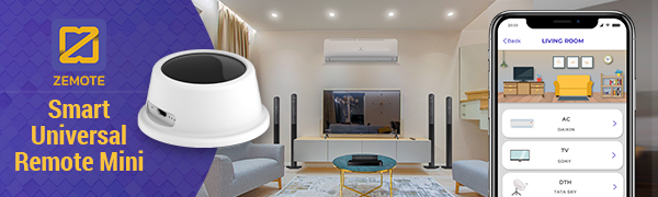 zemote iot smart universal remote mini ir blaster home automation control tv ac set top box