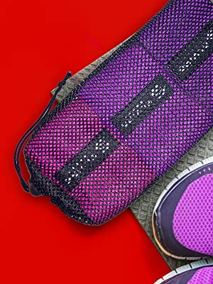 Fabric resistance band inside bag, including wide resistance bands