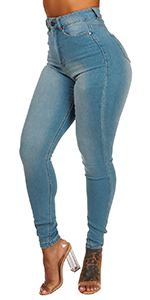 Classic Ultra High Waist Vintage Wash Skinny Jeans