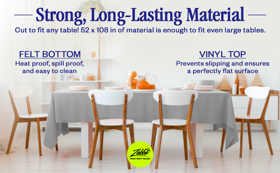 Amazon Com Nuvantee Revolutionary Table Pad Waterproof Protects Table From Spills And Heat 52 X 108 Inch Deluxe Vinyl Premium Table Protector Flannel Backing Lies Flat Kitchen Dining
