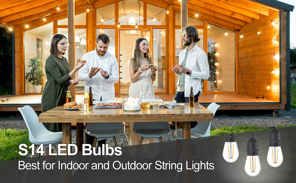 s14 led bulbs for outdoor string lights