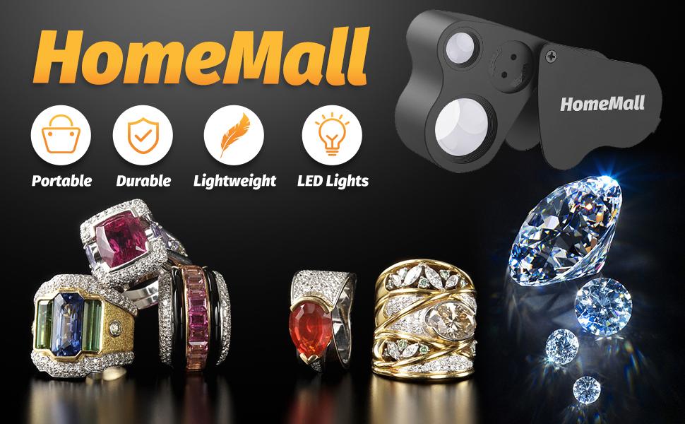2 Pack 30X 60X Illuminated Jewelers Loupe