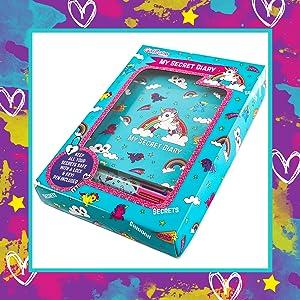 regalo regalos niña niñas 3 4 5 6 7 8 9 10 cumpleaños unicornio diario secreto intimo llave candado