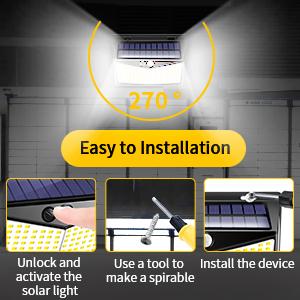 solor motion sensor lights outdoor