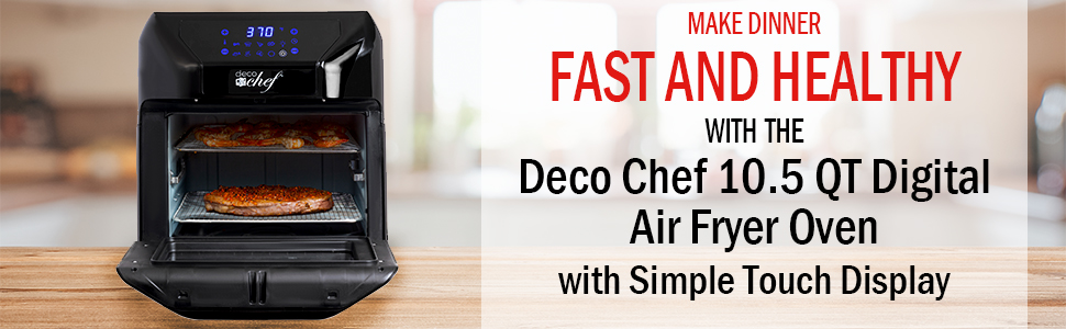 Amazon Com Deco Chef 7 In 1 Digital 10 5qt Air Fryer Convection