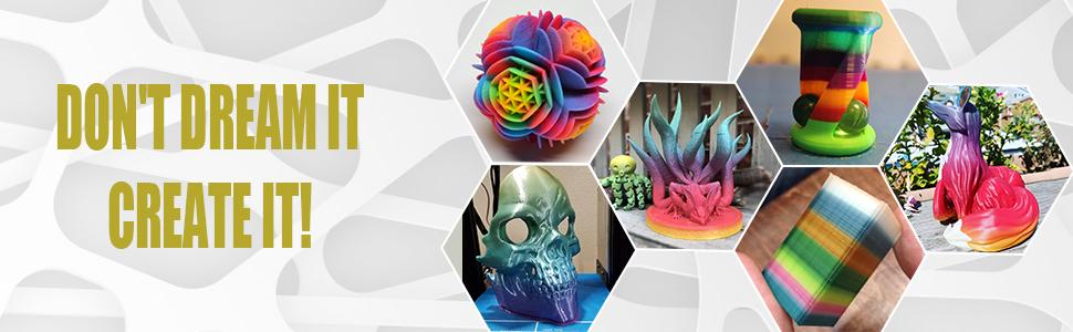 Rainbow pla 3D-printer filament 1,75 mm