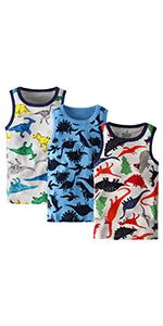 Adorel Camiseta sin Mangas Algodón para Niños Paquete de 3