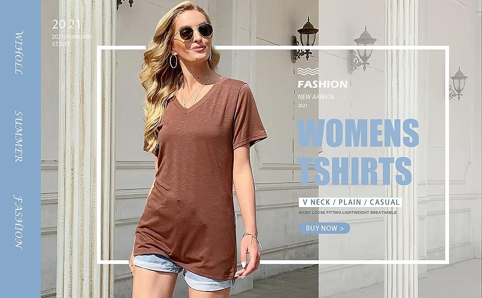 womens tshirts v neck