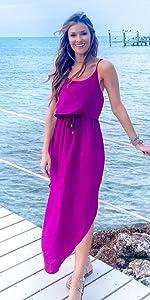 women cute beach dress