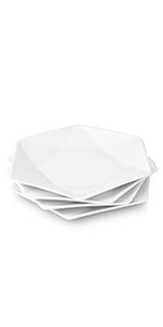 Geometric dinner plates