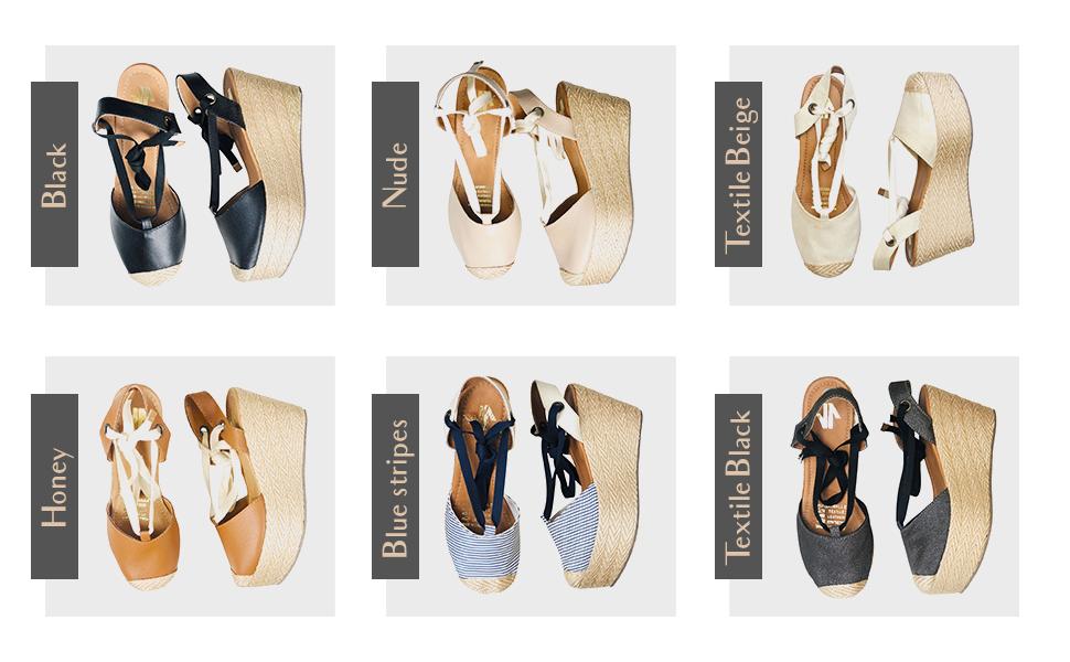 Women Lace Up High Rise Platform Espadrilles | Calzado para DAMA