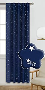Kids Blackout Curtains for Bedroom - Grommet Thermal Insulated  Room Darkening Curtains for nursery