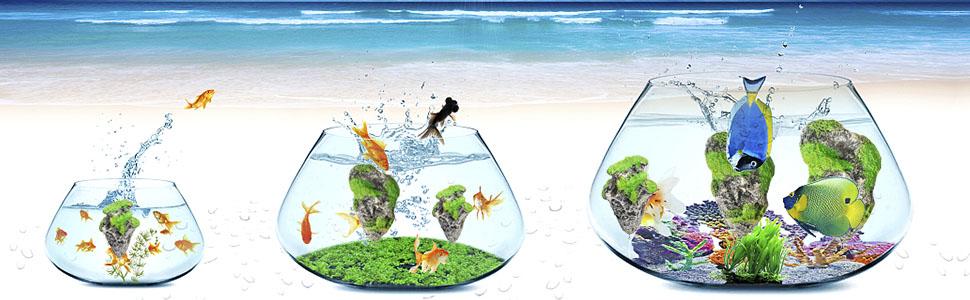 Floating Moss Rocks Resin Stone Decorations Suspended Rock Fish Tank Decoration Rock Aquarium Rocks