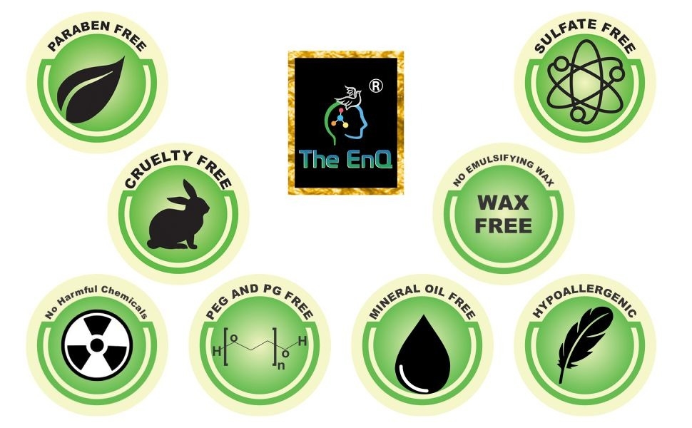 paraben free sulfate free no harmful chemicals no dyes no silicons pg peg free hypo allergic waxfree
