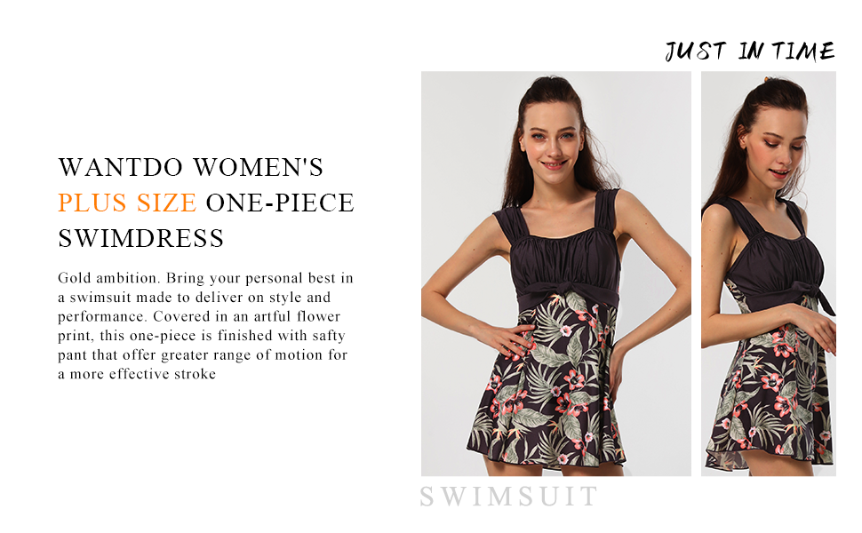 Wantdo Women's One-Piece Swimdress