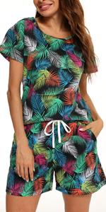 women feather pajama set