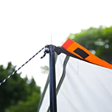 2 Steel Tent Awning Poles