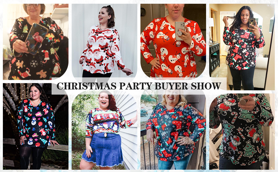 christmas tops for women plus size