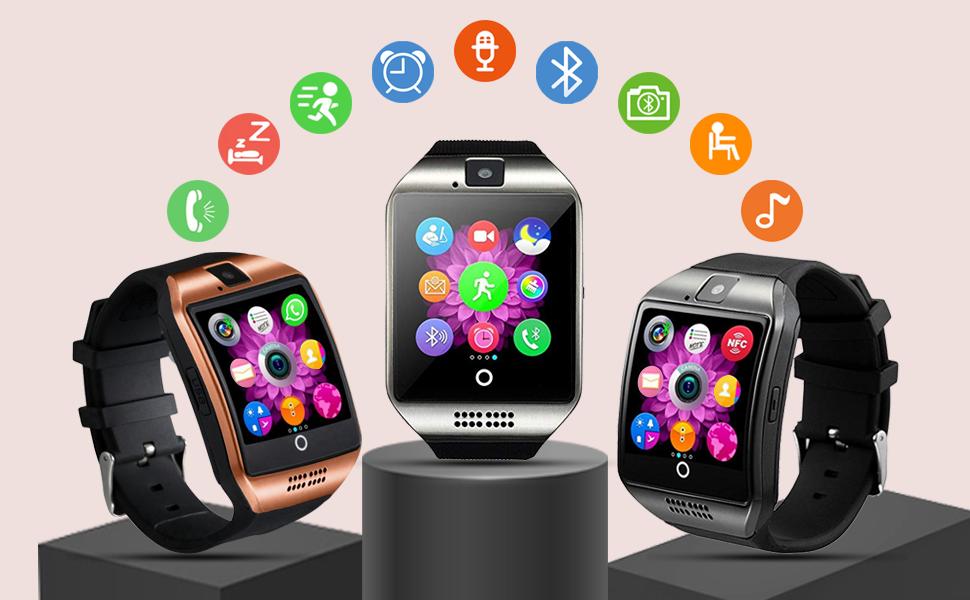 Tipmant Reloj Inteligente Mujer Hombre Smartwatch Pantalla táctil con Ranura para Tarjeta SIM Cámara Podómetro Moviles Buenos Pulsera de Actividad ...