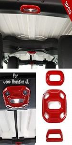 3PCS Front Middle Rear Reading Light Panel Cover for 2018-2021 Jeep Wrangler JL JLU